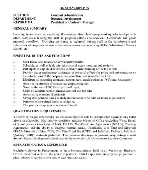 Contract Administration Description by 10 Administrator Description Templates Pdf Doc Free Premium Templates