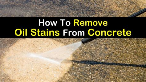 how to remove stains from concrete