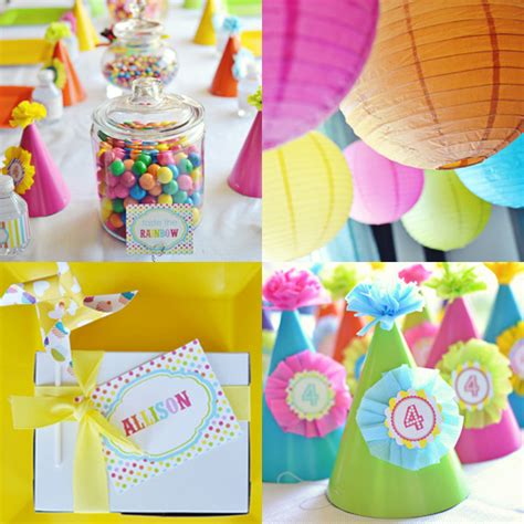 themes for toddler girl birthday party rainbow birthday party ideas for kids popsugar moms