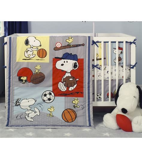 baby sports crib bedding bedtime originals snoopy sports 3 crib bedding set