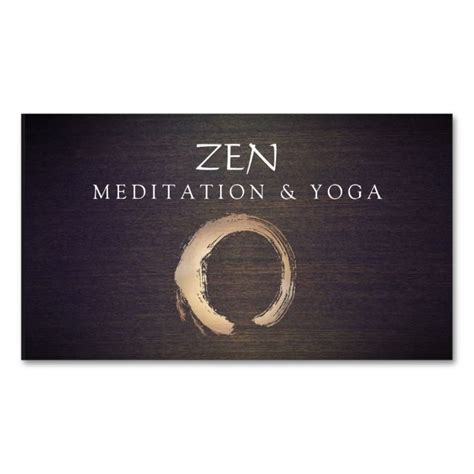 business card buddhist template zen circle enso and meditation buddhist business card