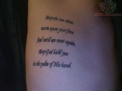 irish blessing tattoo images designs