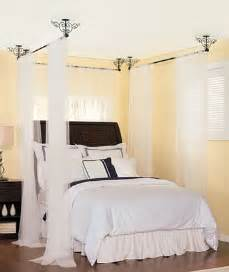 Canopy Bed From Ceiling 3 Ceiling Mount Curtain Rods Canopy Bed Ebay