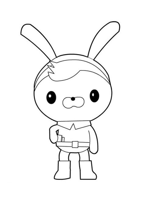 Gup C Coloring Page by Awesome Tweak Bunny From The Octonauts Coloring Page