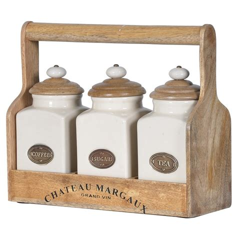 set of 3 kitchen canisters crown furniture