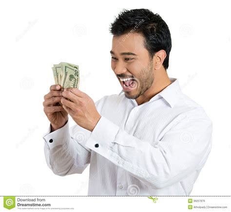 Dream About Winning Money - happy winning money stock photo image 39257879