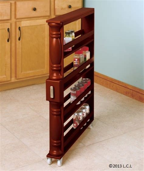 Spice Rack On Wheels Slim Can And Spice Rack White Black Vertical