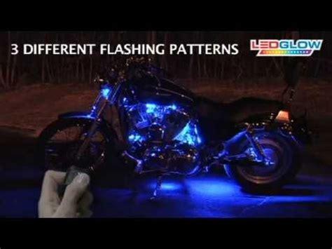 led blue lights for motorcycles ledglow blue led flexible motorcycle lighting kit youtube