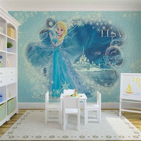 frozen wallpaper decor disney frozen elsa wall paper mural buy at europosters