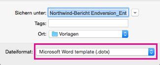 Word Vorlage Mac Erstellen Einer Vorlage In Word 2016 F 252 R Mac Word For Mac