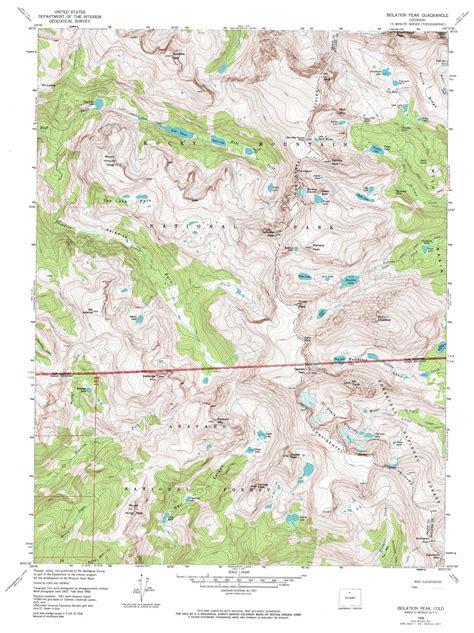 usgs maps isolation peak topographic map co usgs topo 40105b6