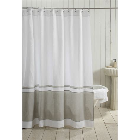 linen shower curtain white orfeo linen shower curtain white grey