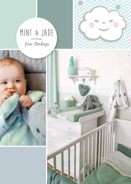 Kinderzimmer Ideen Mint by Babyzimmer Mit Wolken In Grau Mint Jade Baby Room