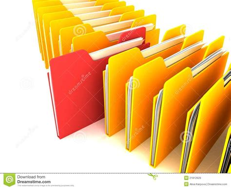 Free Info Search Business Office Folders Info Search Royalty Free Stock Images Image 21812629