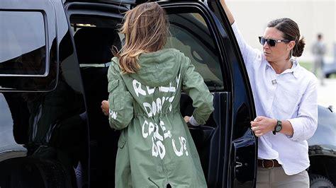 melania wears controversial jacket to