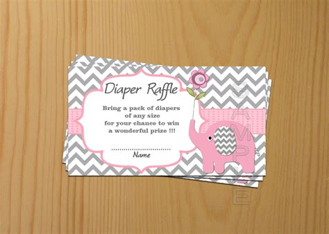 baby shower raffle baby shower elephant baby shower raffle ticket