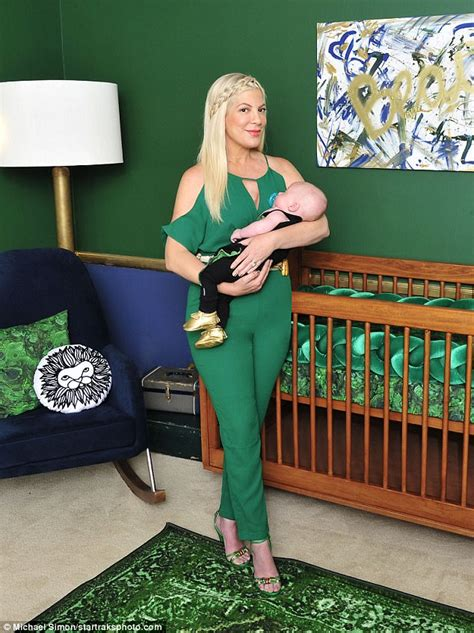 tori spelling s chic and elevated nursery for beau tori spelling shows off son beau s posh emerald nursery