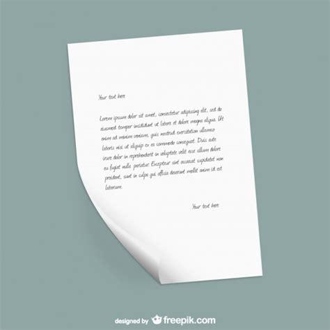 Kostenlose Briefvorlage Papier Briefvorlage Der Kostenlosen Vektor