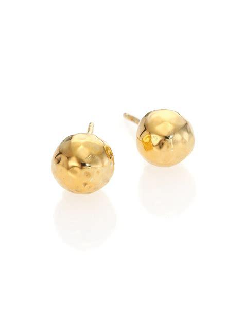 ippolita glamazon 18k yellow gold stud earrings in gold lyst