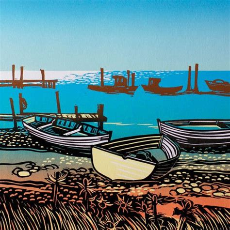 pebble art fishing boat 25 best linocut prints images on pinterest linocut