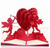 Heart Cupidon 3D Pop Up Greeting Card Valentine Proposal