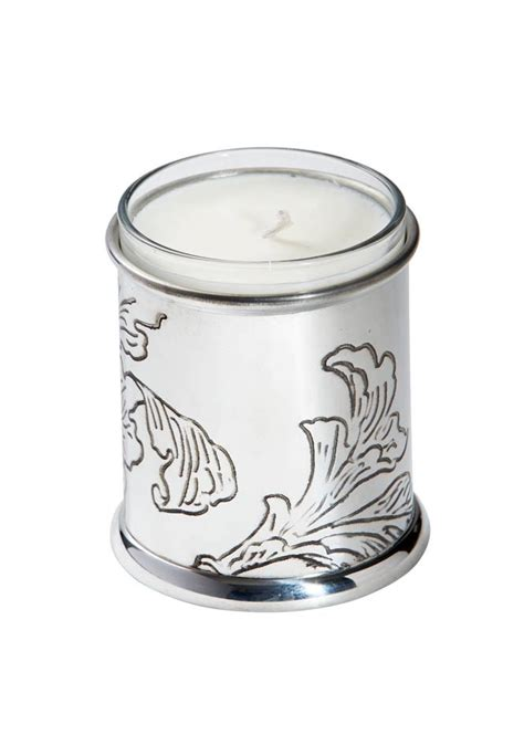 patterned taper candles acanthus pattern pewter candle votive