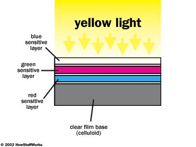 world of color yellow section developing film color how photographic film works