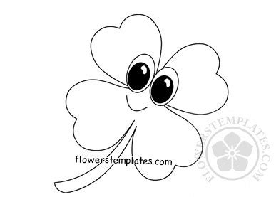 clover templates flowers four leaf clover coloring page flowers templates