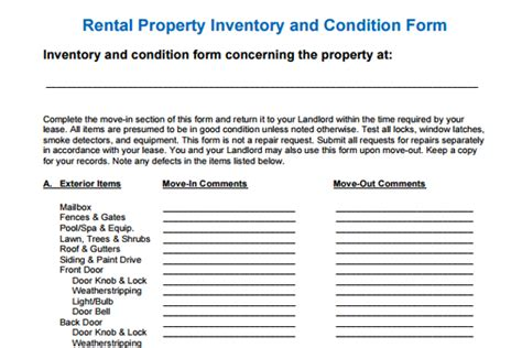 inventory for rental property template the importance of residential lease inventory and