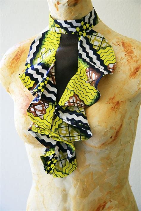 how to make ankara jewelry leather and fabric bib necklace afro nation