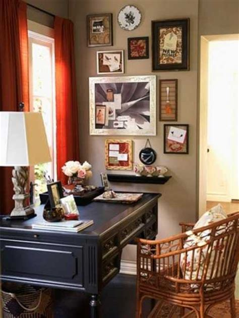 modern home office decor ideas  vintage style