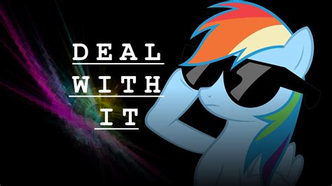 Deal With It Wallpaper rainbow dash deal with it wallpaper by dubnation42 on