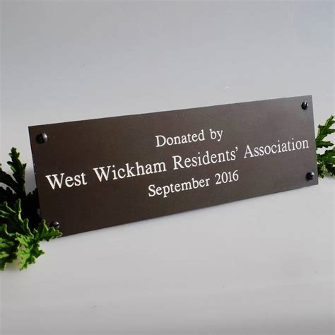 bench memorial plaques personalised memorial bench plaque by england signs