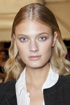 middle part hair tucked behind ears 1000 images about blonde on pinterest center part