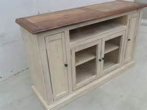 shabby chic media console 1000 ideas about rustic tv stands on tv
