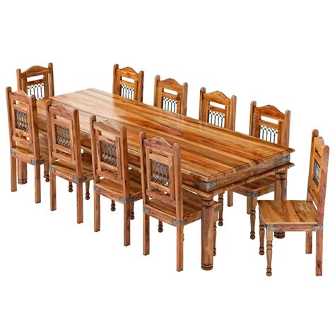 san francisco handcrafted solid wood  piece dining room set