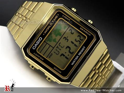 Casio A500wa 1df Stainless Steel World Time 100 New Original buy casio world time alarms digital a500wga 1df buy watches casio deer watches