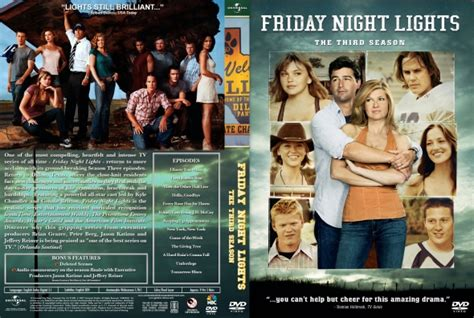 Friday Lights Series by Friday Lights Season 3 Dvd Covers Labels By