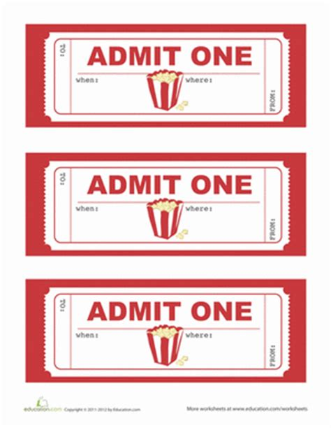 movie party invitations worksheet education com