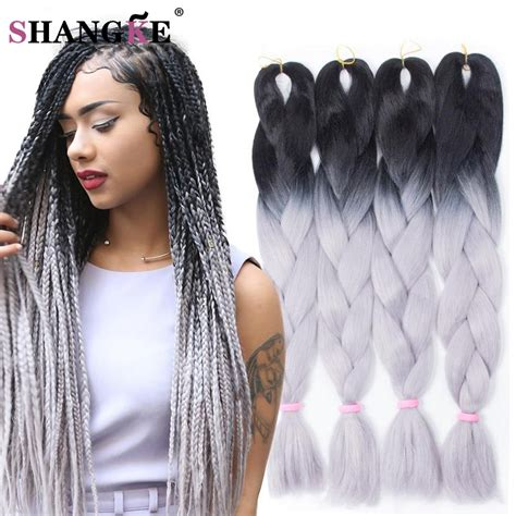 braids black hair expression 1piece ombre jumbo braiding hair two tone synthetic hair