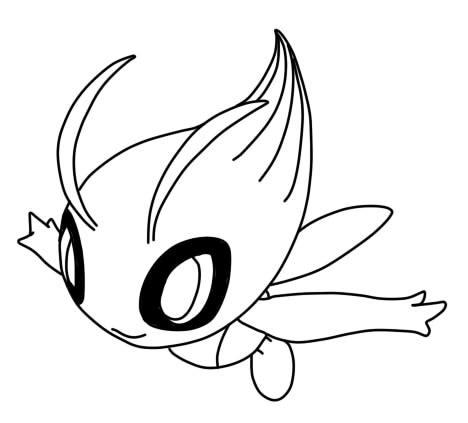 pokemon coloring pages celebi celebi lineart by eizokun on deviantart