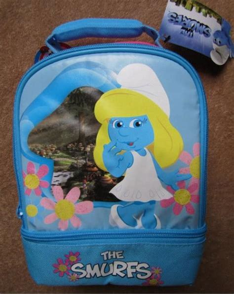 the smurfs smurfette dual lunch box bag tote