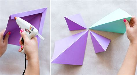 How To Make A Shape With Paper - diy geometric paper backdrop green wedding shoes