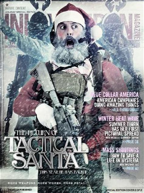 cover page for business ink and iron issue 3 tactical santa cover by ink and iron