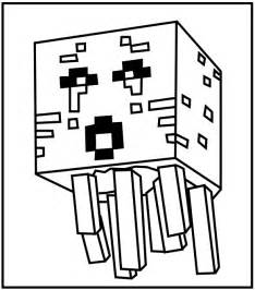 coloring pages of minecraft minecraft ghast coloring