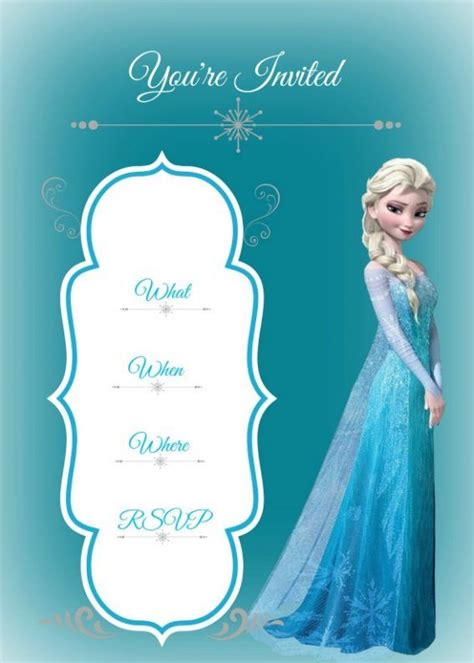 best 25 free frozen invitations ideas on