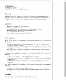 flight attendant resume templates professional emirates flight attendant templates to