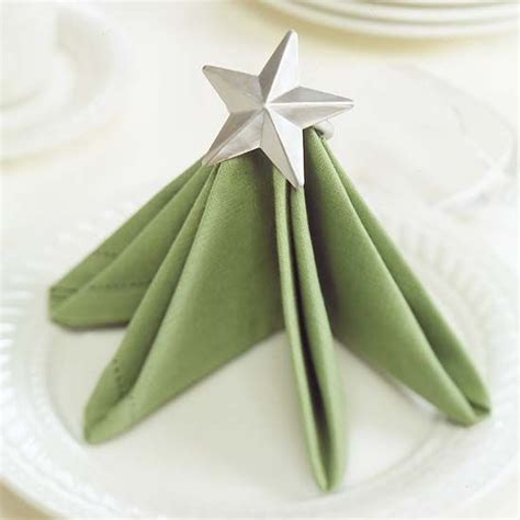 festive christmas napkin ideas christmas trees napkin