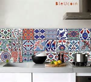 kitchen bathroom turkish tile wall decals 22designs x 2 portugal vintage tiles stickers pack of 16 tiles tile