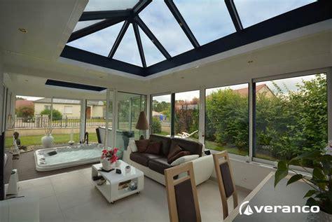 veranda spa une v 233 randa 224 toiture plate d 233 di 233 e au bien 234 tre